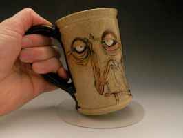 Illustrated and Sculpted Mug by thebigduluth