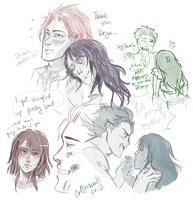 Reyn and Sharla doodles by cottonball