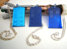 Tardis Necklace Doctor Who Collection by GeekStarCostuming