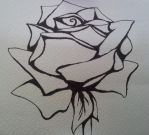 Outline of a Rose by nekochan828