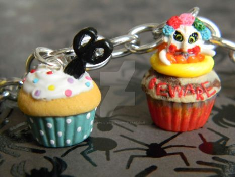 Sweet Revenge and The Killer Cupcake-Polymer Clay by ThePetiteShop
