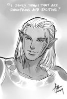 DA - Zevran Portrait by aimo