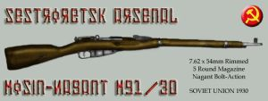 Mosin-Nagant M91-30 by SquireJames