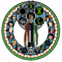 KH stained glass: Rex Salazar and Ben Tennyson by VexenRandomDrawerGuy