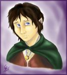 Frodo Portrait - Colored by spiritwolf77