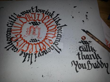 Positive Calligram Calligraphy by Milenist