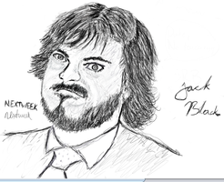 Jack Black Sketch by Trnal