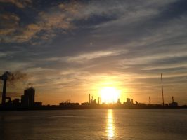 The port of Rotterdam by Er0tism