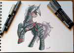 Metal-Godzilla Delta pony by Auriaslayer