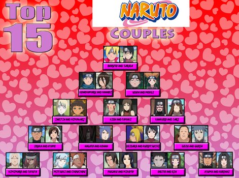 My Top Fifteen Naruto Couples Take Two by Lady-Zaeliea