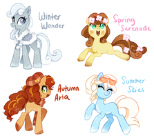 Pony Adoptable Auction - Seasonal Ponies (CLOSED) by tsurime