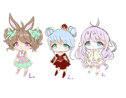 Chibi Adoptables -OPEN- -PRICES LOWERED- by LuceRovina