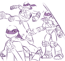 TMNT: Don sketches by Fulcrumisthebomb