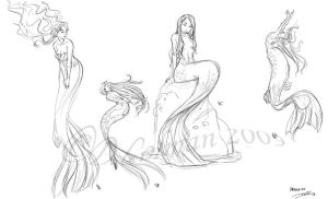 Mermaid Images_2 by davidsdoodles