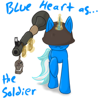 Blue Heart as the Soldier by Aqwara