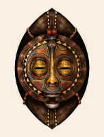 african mask by crayonmaniac