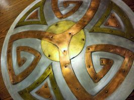 Celtic Disk - Finished by creativeetching