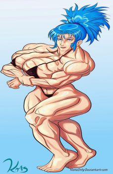 Leona Bikini Buff -King of Fighters- by NoneOnly