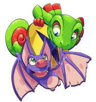 Yooka Laylee by ScittyKitty