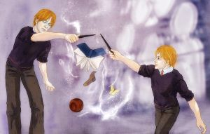 HP: New experience (Fred and George Weasley) by iris-M