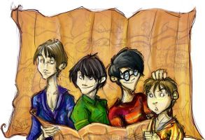 The Marauders - Harry Potter by vimfuego