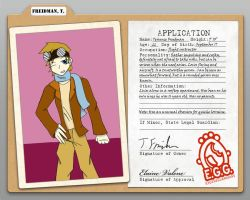 Terrence Freidman Application by Freddy-kun