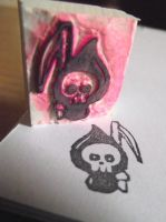 Little death eraser stamp by AnneKo