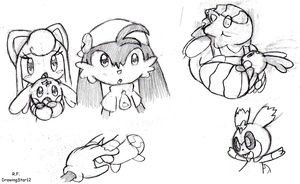Klonoa Sketchies by DrawingStar12
