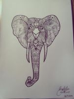 Elephant (drawing) by toinfinity18