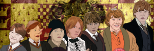 Ron Weasley Years 1-7 by Applescruffgirl