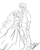 Narusaku Wedding Request Sketch by VictimRose