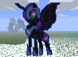 Minecraft- Nightmare moon by aprilgoddess