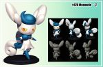 Meowstic F figure by R-no71