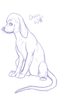 Chess Bloodhound Sketch by dancingdingos