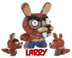 Dunny Monster : Painted Larry by zombiemonkie