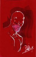 Daredevil on red by joebenitez