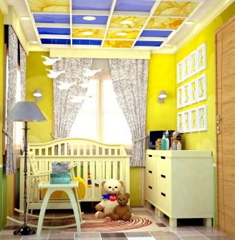 YELLOW CRADLE ROOM FOR A BABY GIRL by rj-king