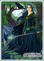 Tarot - The Crone - Card 6 by ravynnephelan