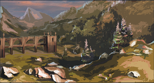 Castle valley by AnDary