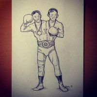INKTOBER DAY5: The champ by chicopixel