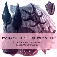 Ischarm Shell Brushes 001 by ischarm-stock
