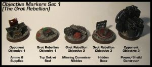 Objective Markers Set 1 by Proiteus