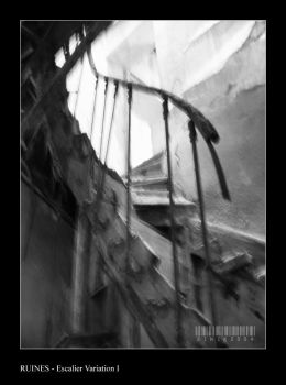 Ruines - Escalier Variation I by sinikdpt
