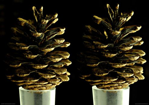 Golden Cone - stereoscopic 3D by Hector42
