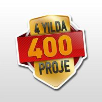 4 years, 400 projects Logo by OnRckn