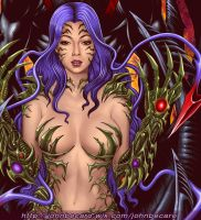Witchblade Ripclaw Deadly Attraction closeup by johnbecaro