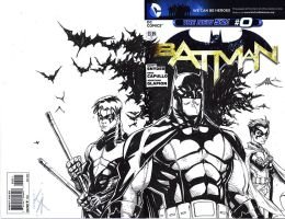 Batman Sketch Cover Bat-Fam by KomicKarl
