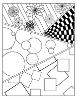 Abstract Coloring Page by MadQueenKitty