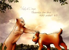Diego and Nala by LilMissPeppy