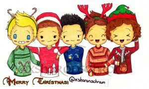 One Direction Christmas by Sharsel
